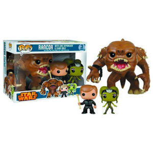Star Wars Rancor Luke and Oola Pop! Vinyl Figure Bobble Head 3-Pack - Previews Exclusive