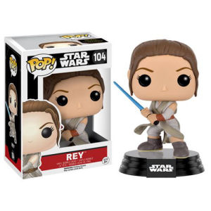 Star Wars The Force Awakens Rey with Lightsaber Pop! Vinyl Figure