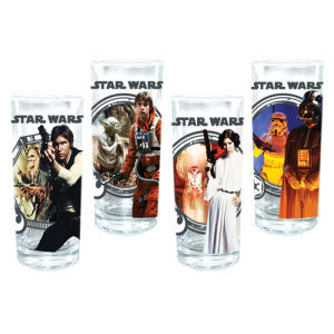 Star Wars 4 Piece 10 Ounce Juice Glass Set