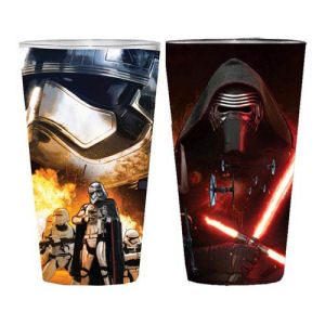 Star Wars Episode VII The Force Awakens Villain Poster Clear Full Wrap Pint Glass 2-Pack