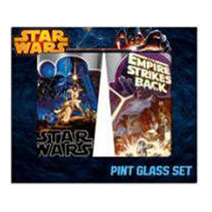 Star Wars Posters 16 Ounce Pint Glass 2 Pack