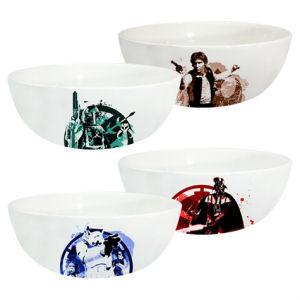 Star Wars 6 Inch Ceramic Bowl 4 Pack Set