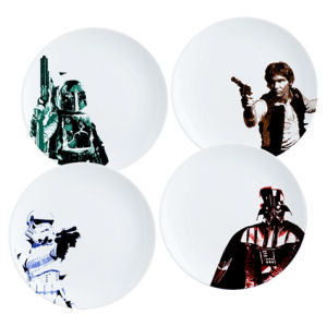 Star Wars 10 Inch Ceramic Plate 4 Pack Set
