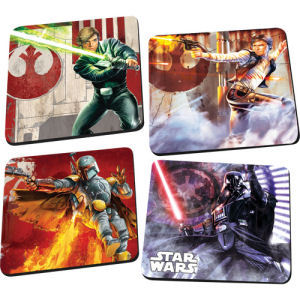 Star Wars 4 Piece Wooden Coaster Set