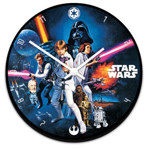 Star Wars 13.5 Inch Cordless Wood Wall Clock