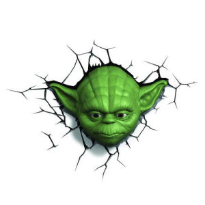 Star Wars Yoda Head 3D Nightlight