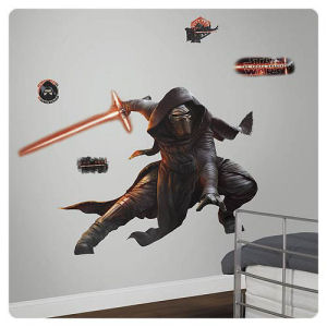 Star Wars The Force Awakens Kylo Ren Glow-in-the-Dark Giant Wall Decal