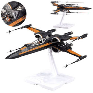 Star Wars The Force Awakens Poe Dameron  X-Wing Fighter 1/72nd Scale Model Kit