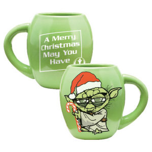 Star Wars Yoda Holiday 18 Ounce Oval Ceramic Mug