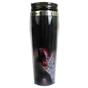 Star Wars Episode VII The Force Awakens Kylo Ren with Stormtroopers 16 Ounce Curved Plastic Travel Mug