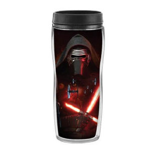 Star Wars Episode VII The Force Awakens Kylo Ren Space 16 Ounce Curved Plastic Travel Mug