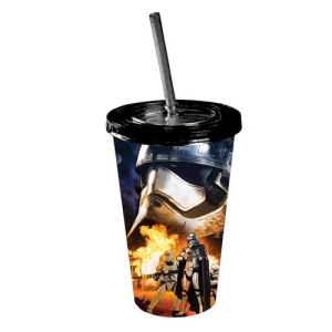 Star Wars Episode VII The Force Awakens Phasma and Flametroopers 16 Ounce Travel Cup