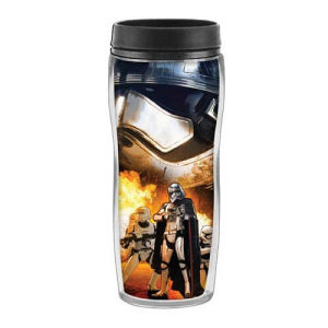 Star Wars Episode VII The Force Awakens Phasma and Flametroopers 16 Ounce Curved Plastic Travel Mug