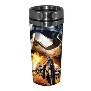 Star Wars Episode VII The Force Awakens Phasma and Flametroopers 16 Ounce Stainless Steel Travel Mug