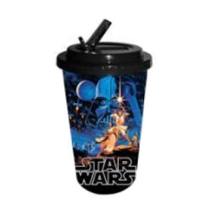 Star Wars Classic Plastic 16 Ounce Flip Straw Travel Cup