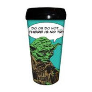 Star Wars Yoda Comic 16 Ounce Plastic Travel Mug