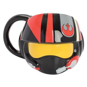 Star Wars The Last Jedi Resistance Pilot Helmet Premium Sculpted Ceramic Mug