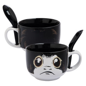 Star Wars The Last Jedi Porg 20 Ounce Soup Mug with Spoon