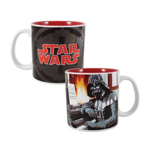 Star Wars Darth Vader Holiday 20 Ounce Ceramic Mug . Ceramic Mug is made from high-quality stoneware. Dishwasher and microwave safe. Measures 4 inches tall.