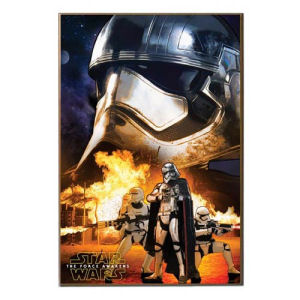 Star Wars Episode VII The Force Awakens Captain Phasma and Flametroopers Wood Wall Art