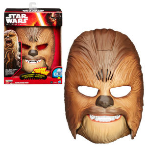 Star Wars The Force Awakens Chewbacca Electronic Mask. This awesome mask has electronic growls and an articulated jaw.