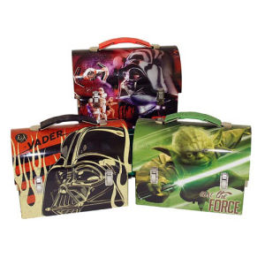 Star Wars Large Workman Carry All Tin Lunch Box Case