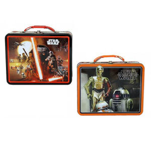 Star Wars Force Awakens Large Carry All Tin Lunch Box Case