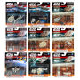 Star Wars The Force Awakens MicroMachines 3-Pack Vehicles Wave 1. 1 Desert Invasion - 1 The First Order Attacks - 1 First Order TIE Fighter Attack - 1 Speeder Chase - 2 Space Escape - 2 Clone Fighter Strike - 2 X-Wing Dogfight - 1 The Inquistors Hunt - 1