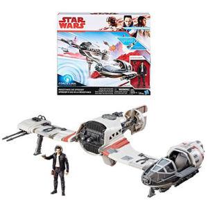 Star Wars The Last Jedi Resistance Ski Speeder Vehicle with Poe Dameron Action Figure