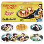 Stranger Things Eggo Card Game.  Game includes 106 Eggo cards - 7 character cards - instructions. Ages 14 and up. 2-6 players.