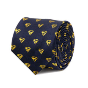 Superman Shield Navy Italian Silk Tie