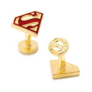 Superman Gold Enamel Shield Cufflinks