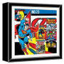 Superman Wood Shadow Box. Measures 14-inches Square.