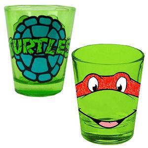 Teenage Mutant Ninja Turtles Raphael Glitter Shot Glass