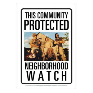 Texas Chainsaw Massacre Community Watch Tin Sign