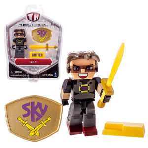 Tube Heroes Sky with Accessory 2.75 Inch Action Figure.