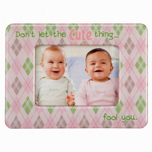 Retro Humor by Ephemera Raising Kids and Coffee Collection Cute Thing Fool You Mini Fridge Magnet Picture Frame