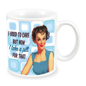 Retro Humor by Ephemera I Used to Care 12 Ounce Ceramic Mug