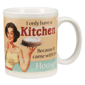 Retro Humor by Ephemera Domestic Goddess Collection I Only Have a Kitchen 12oz Mug