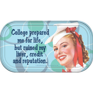 Retro Humor by Ephemera College Prepared Magnetic Mini Tin Sign