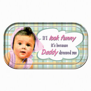 Retro Humor by Ephemera Raising Kids and Coffee Collection If I Look Funny...Mini Tin Sign