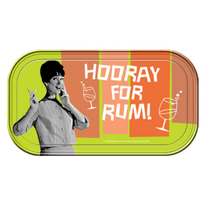 Retro Humor by Ephemera Hooray for Rum! Magnetic Mini Tin Sign