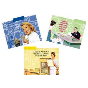 Retro Humor by Ephemera Work Attitude Collection Office Survival File Folders Set of 12