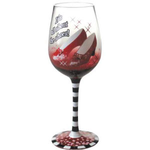 The Wizard of Oz Ruby Slippers Wine Glass