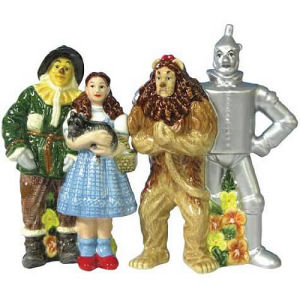 Wizard of Oz Four Friends Salt and Pepper Shakers