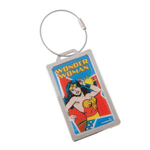 Wonder Woman Metal Luggage Tag