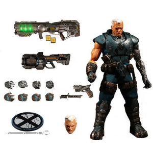 X-Men Cable 1/12th Scale Collective Action Figure.  Cable comes with a full arsenal of futuristic weapons.