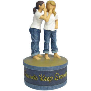 Westland Giftware Forever in Blue Jeans Friends Keep Secrets Trinket Box