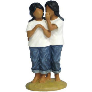 Westland Giftware Forever in Blue Jeans Friends Have Secrets Figurine