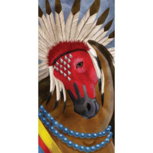 Westland Giftware Horse of a Different Color Pawnee Warrior Canvas Print